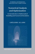 Numerical Analysis and Optimization by Gregoire Allaire